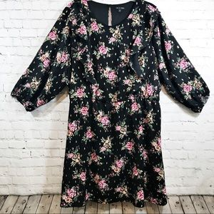 Women's  As u wish floral black dress size 3X
